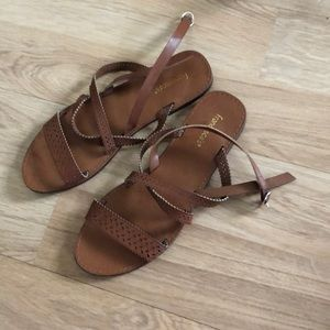 Francesca's brown leather sandals